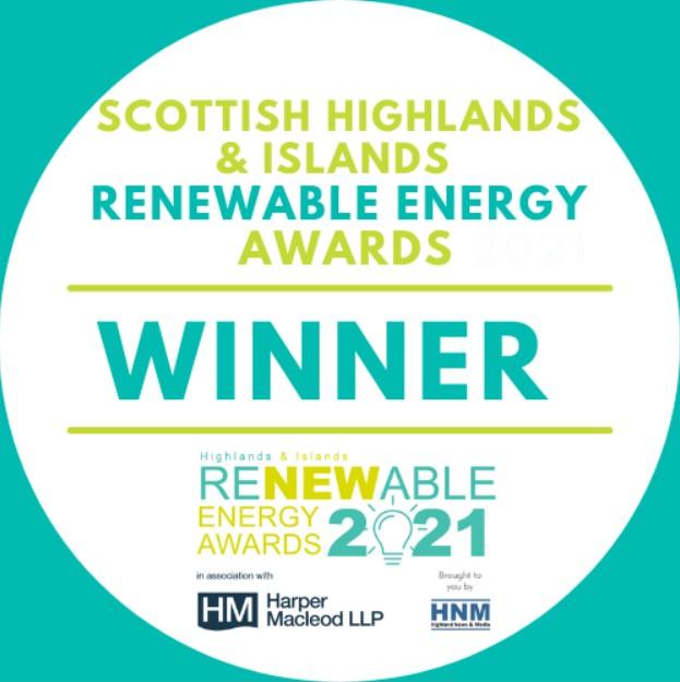 Outstanding Achievement – Scottish Highlands & Islands Renewable Energy Awards 2021
